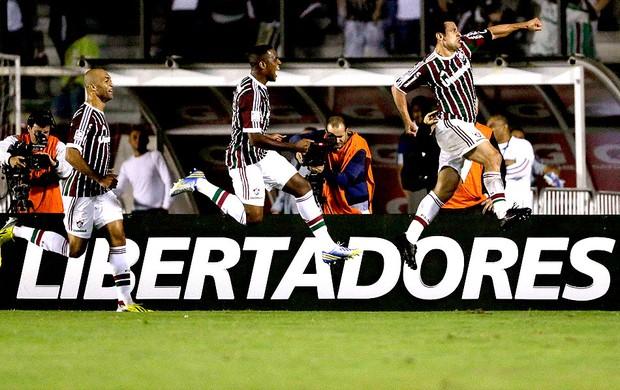 Fred gol jogo Fluminense Emelec (Foto: Reuters)