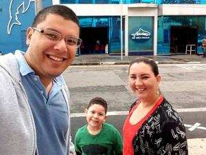Marcelo Araújo e Nelcilene Costa noivaram ainda na segunda-feira (19) (Foto: Arquivo pessoal)