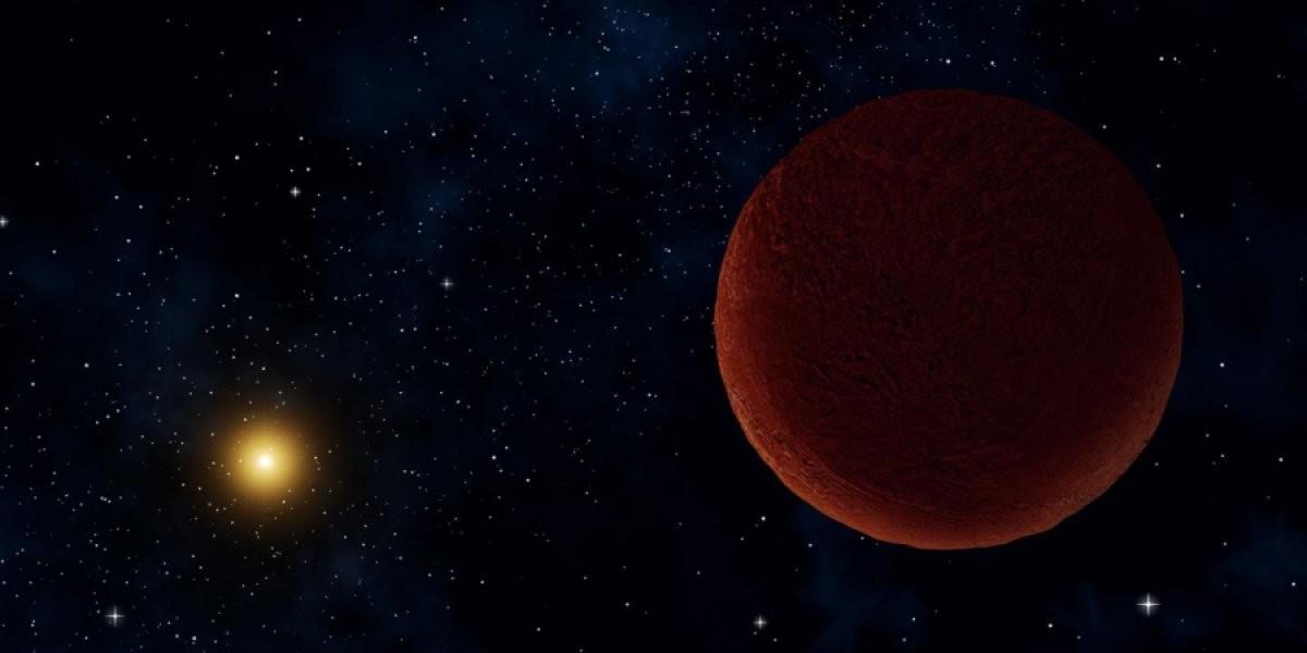 Concepção artística de DeeDee, provável planeta anão recém-descoberto nos confins do Sistema Solar (Foto: Alexandra Angelich (NRAO/AUI/NSF))
