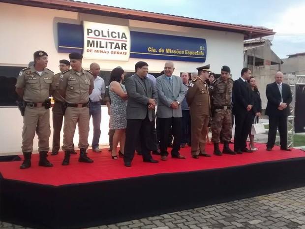 Diversas autoridades marcaram presença nas comemorações dos 10 anos da 8ª Cia MEsp. (Foto: Diego Souza/G1)