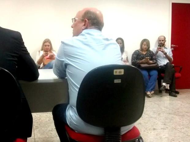 O ex-deputado José Riva (PSD) durante audiência na 7ª Vara Criminal de Cuiabá. (Foto: Carolina Holland / G1)