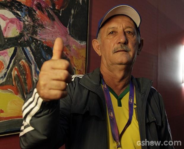 Ele revela que já fez evento, mas não explora muito a semelhança (Foto: Raphael Dias / TV Globo)