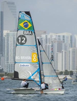 Martine Grael e Kahena Kunze em Miami (Foto: Walter Cooper/US Sailing Photos)