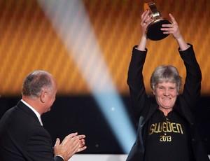 Luiz Felipe Scolari felipão Pia Sudhage   fifa prêmio melhor do mundo bola de ouro (Foto: AFP)