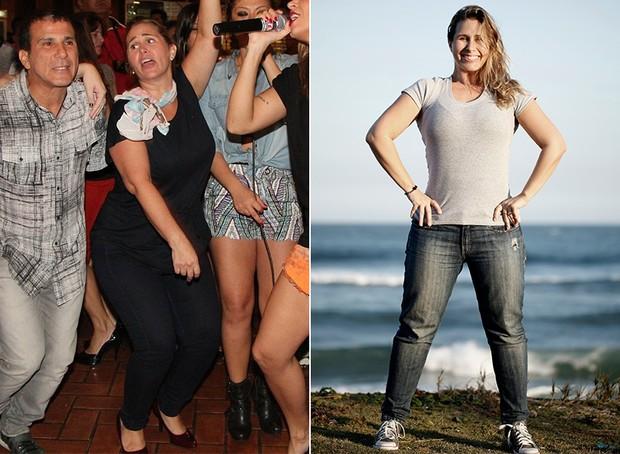 Andréia Sorvetão - antes e depois (Foto: Adna Barbosa / Foto Rio News | Marcos Serra Lima / EGO)