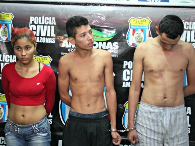Trio foi preso no bairro Jorge Teixeira, Zona Leste de Manaus (Foto: Diego Toledano/ G1 AM)