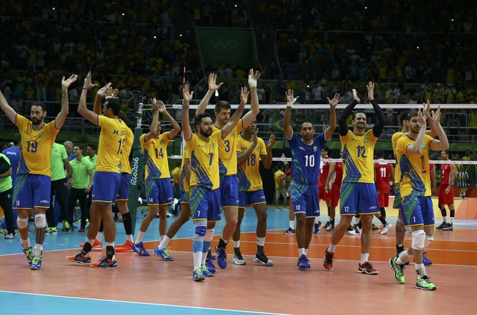 Brasil x México - vôlei masculino (Foto: Reuters)