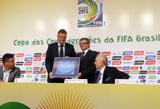 Anúncio da parceria da Centauro com a Fifa foi feito nesta quinta-feira (16) (Foto: Vipcomm)