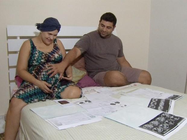 Maike e Marci falam sobre o desejo de serem pais e a luta contra o câncer (Foto: Reprodução/ TV Morena)