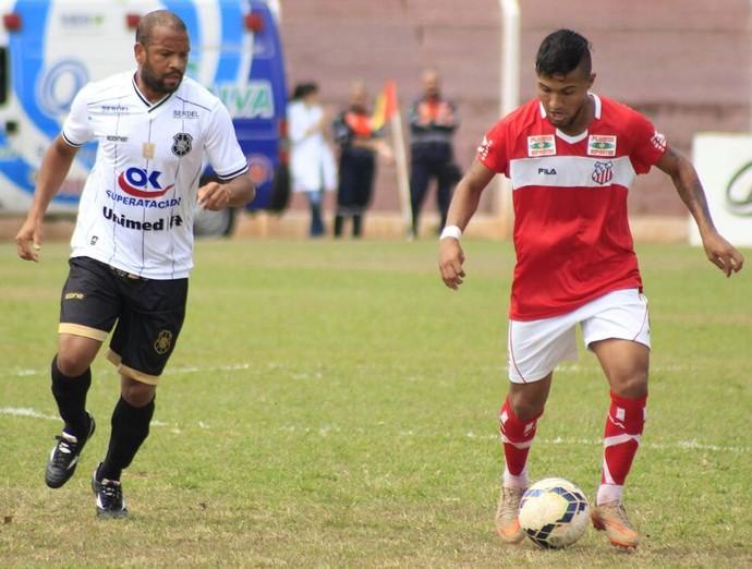 Dudu estreou pelo Rio Branco-ES contra o Comercial-MS (Foto: Jed Vieira/GazetaMS)