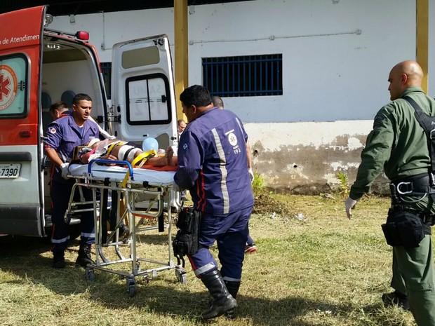 Coronel da PM foi socorrido pelo grupamento aéreo da Polícia Militar. (Foto: Divulgação/Ciopaer)