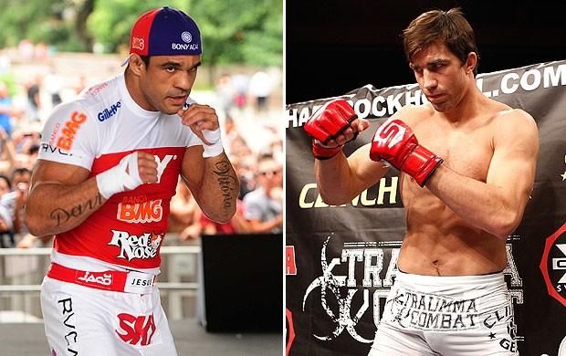 montagem Vitor Belfort x Luke Rockhold UFC (Foto: Editoria de Arte)