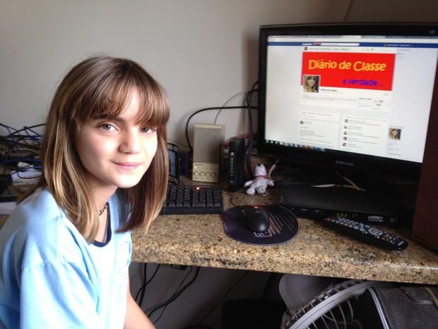 Diário de Classe, criado por Isadora Faber, já tem 160 mil curtidas (Foto: Fernanda Burigo/G1)