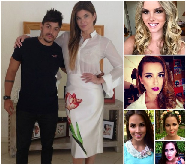 O maquiador Daniel Cunha com Cristiana Oliveira, Bárbara Evans, Juliana Boller e Pérola Farias (Foto: Reprodução do Instagram)