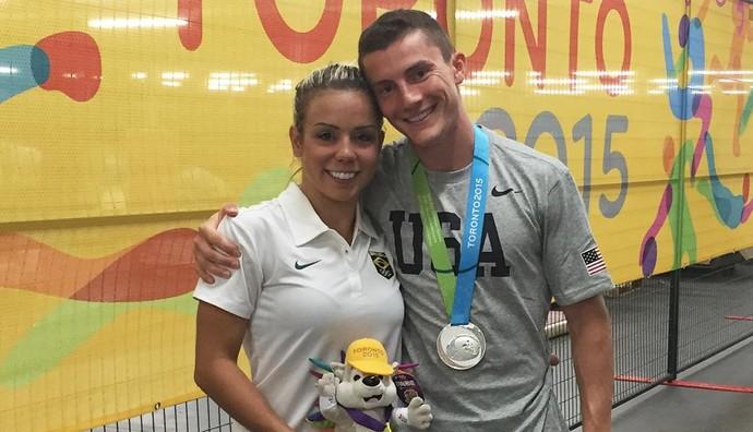 Camilla Gomes namora o ginasta americano Steven Gluckstein (Foto: Reprodução/Instagram)