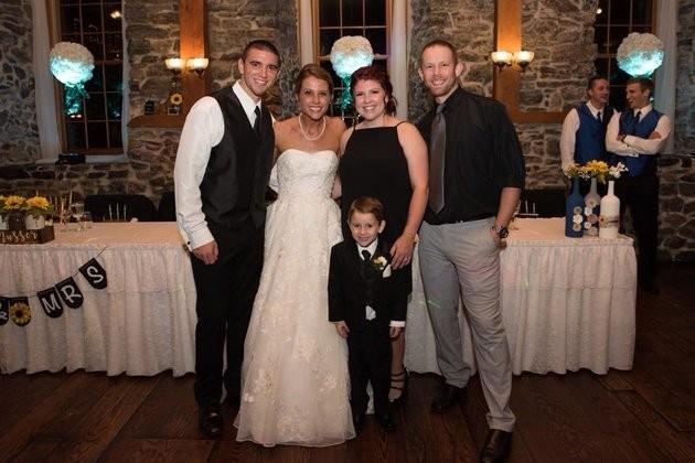 Jeremy, Katie, Casey e Tyler com o pequeno Landon (Foto: Arquivo pessoal)