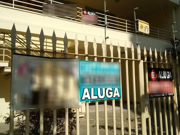 Aluguel em Divinópolis (Foto: Ricardo Welbert/G1)