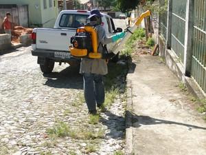 Estratégia de zoneamento para combater adengue em Divinópolis (Foto: Katiuscia Freitas/PMD)