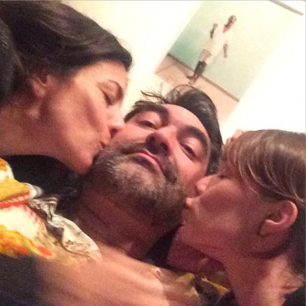 Marina Person, Zeca Camargo e Mariana Ximenes (Foto: Instagram/ Reprodução)
