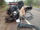 Quatro pessoas morrem após carro se chocar com caminhão na TO-336