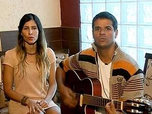 Izabella Rocha e Bruno Dourado, integrantes do grupo Innatura (Foto: Reprodução/TV Globo)