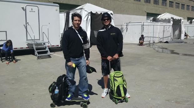 Os empreendedores Ivo Machado e Adam Moon, da Movpak (Foto: Fabiano Candido)