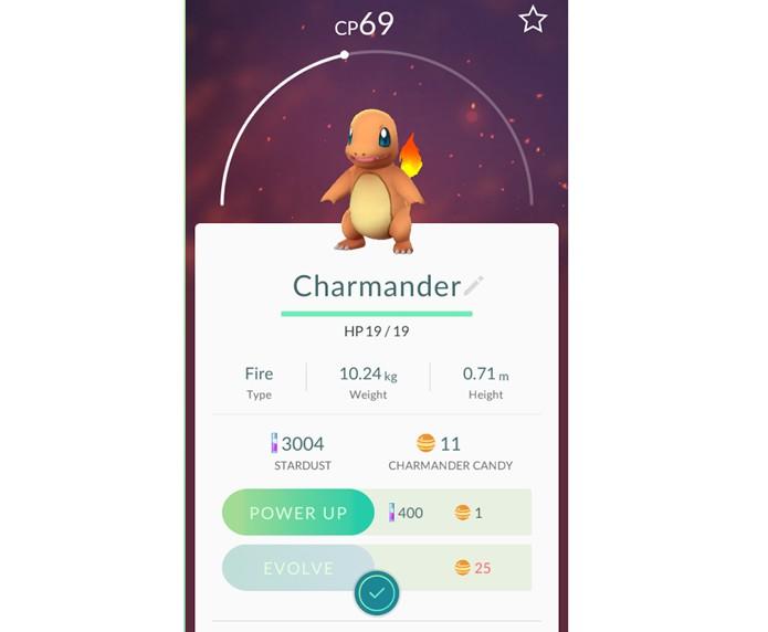 Todo Pokémon precisa de Candy para evoluir em Pokémon Go (Foto: Reprodução/Thiago Barros)