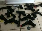 Polícia Rodoviária apreende réplicas de pistolas na Castello Branco