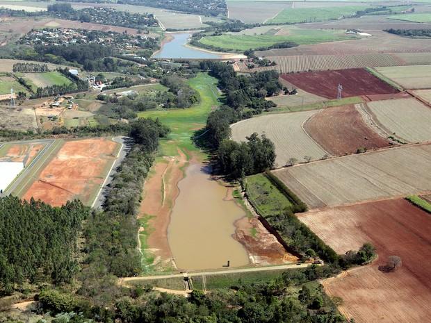Represa Recanto Nova Odessa tirada em setembro de 2014 (Foto: Osnei Réstio/Prefeitura)