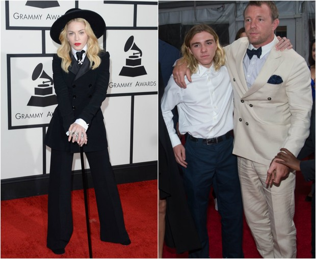 Madonna, Rocco e Guy Ritchie: batalha doméstica (Foto: AFP/ Getty Images)