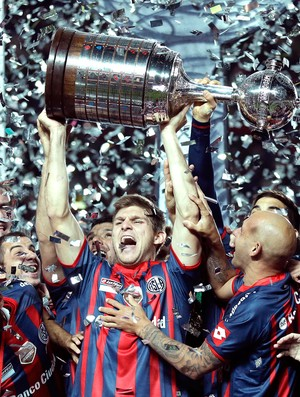 San Lorenzo festa taça Libertadores (Foto: Reuters)