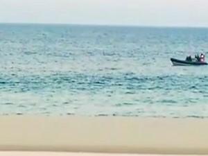 RJ busca piloto caça Marinha (Foto: Reprodução/TV Globo)