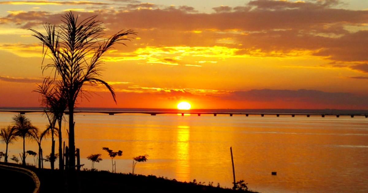 546acff2f Fantástico - Presidente Epitácio vence batalha do pôr do sol mais bonito do  Brasil