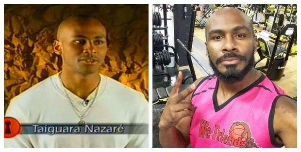 Antes e depois de Taiguara Nazareth (Foto: Reprodução de Vídeo | Reprodução do Instagram)