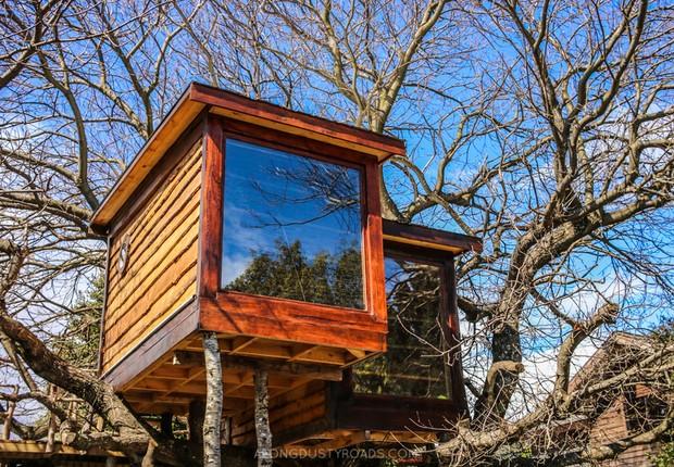 O hostel Chili Kiwi Lakefront em Pucon, no Chile (Foto: Reprodução/Facebook)