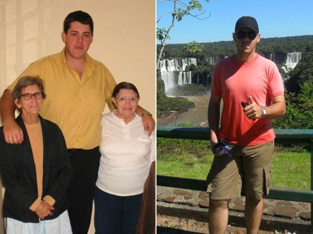José Américo Fontana Júnior emagreceu mais de 50 kg para realizar o sonho de se tornar policial militar (Foto: Arquivo pessoal/José Américo Fontana Jr.)