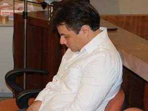 Eduardo Paredes, reú no caso Fátima Lopes, durante o júri em João Pessoa (Foto: Jorge Machado/G1)