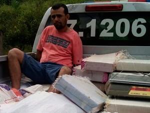 Vereador preso com drogas (Foto: Divulgação/PM)
