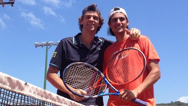 Guga e Nicolás Lapentti se enfretam no sábado (Foto: João Lucas Cardoso/GLOBOESPORTE.COM)