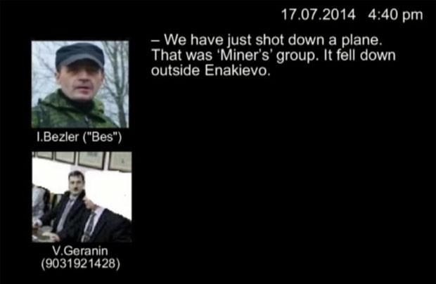 Ucrânia divulga gravação na qual rebeldes admitiriam queda de avião