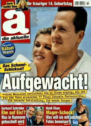 Revista publica capa sensacionalista sobre Schumacher (Foto: Divulgação)