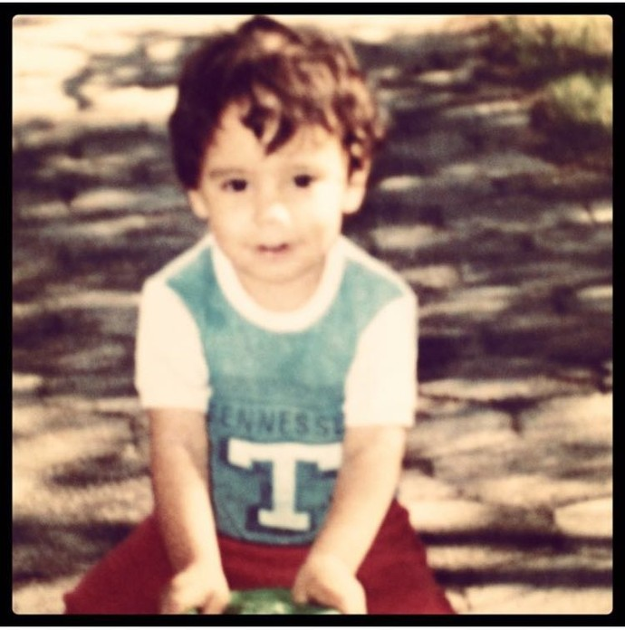 Gastón na infância (Foto: Acervo pessoal)