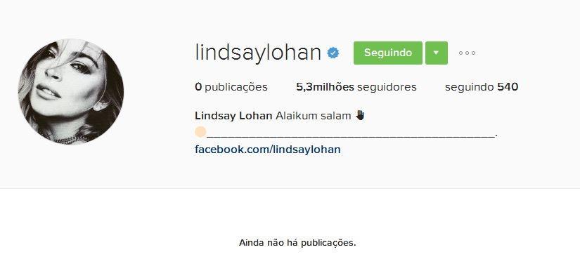 Lindsay Lohan deleta posts no Instagram (Foto: Reprodução)