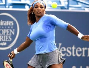 Tênis Serena Williams contra Simona Halep (Foto: Agência AP)