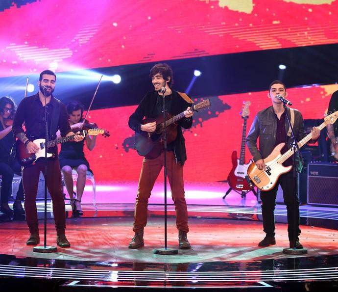 OutroEu foi a segunda banda a deixar a disputa (Foto: Isabella Pinheiro/Gshow)