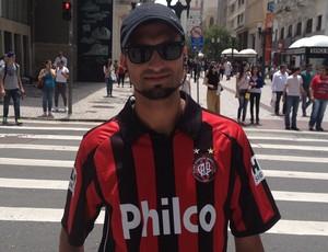 Vinicius Belo, torcedor do Atlético-PR (Foto: Rafael Les)