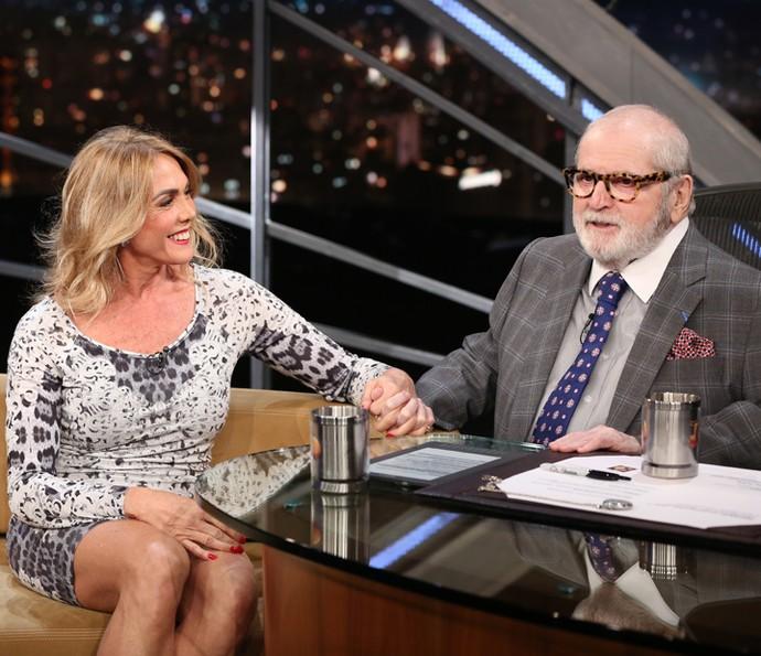 Hortência é entrevista pelo apresentador Jô Soares (Foto: Carol Caminha/Gshow)
