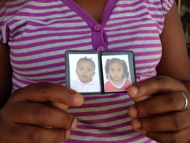 Irmãs de Peruíbe morreram após serem atropeladas por uma motocicleta (Foto: Cássio Lyra/G1)