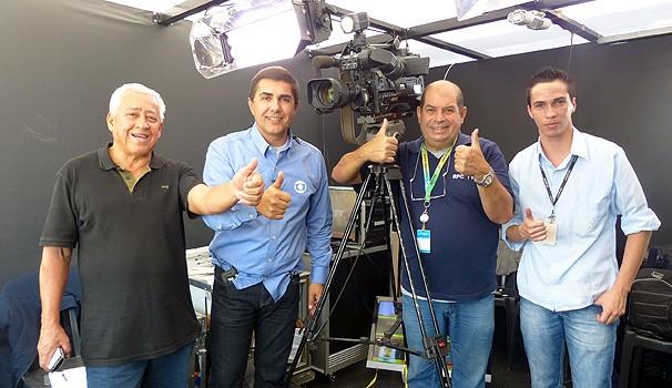 Redação móvel estúdio panorâmico (Foto: Divulgação/ RPC TV)