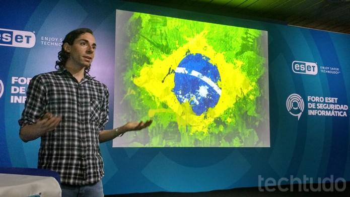 Mathias Poroli revela cenário do cibercrime no Brasil durante Forum ESET 2016 (Foto: Melissa Cruz / TechTudo)
